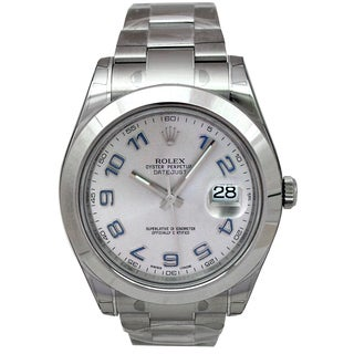 Pre-owned Rolex Stainless Steel 41-millimeter Datejust II Watch
