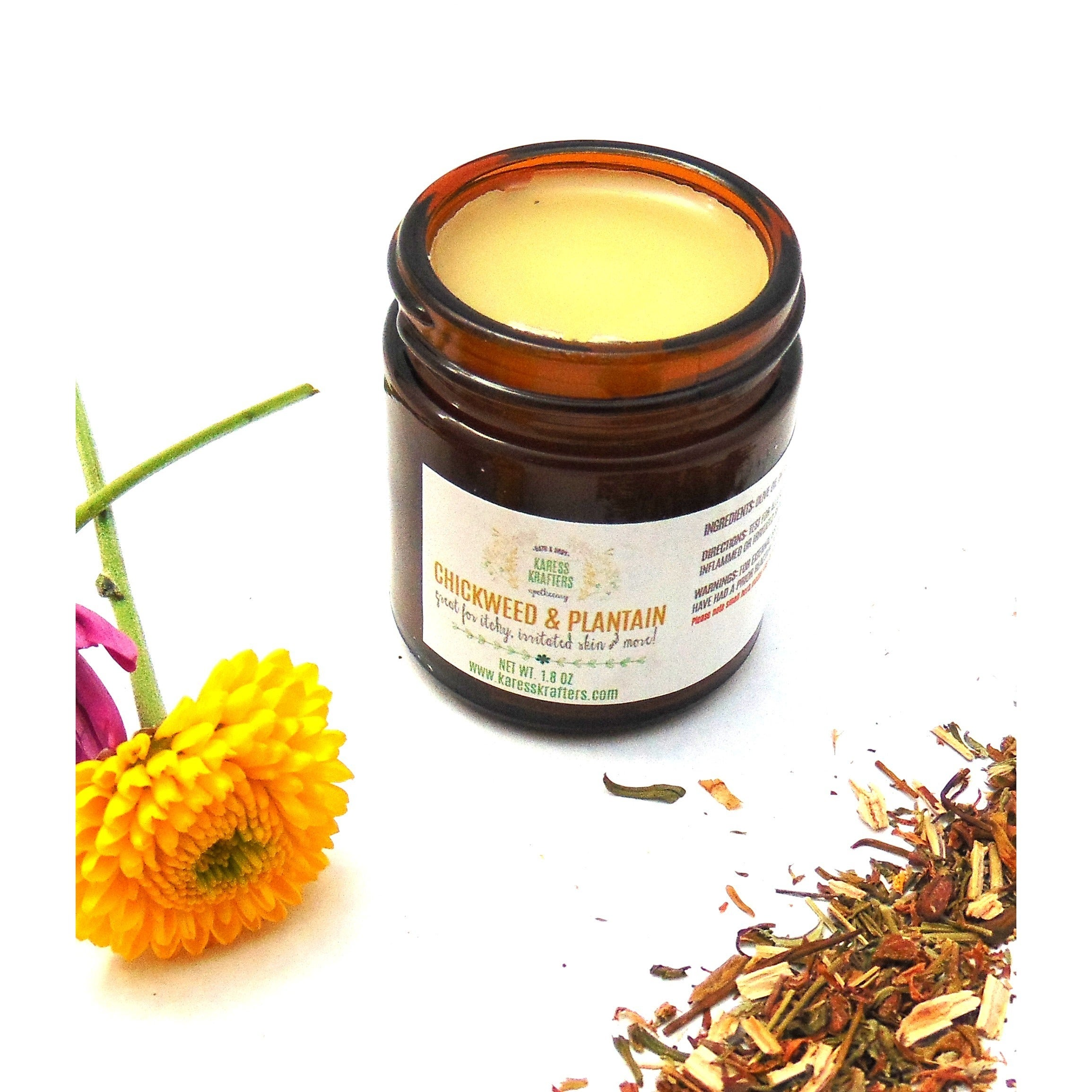Chickweed & Plantain Salve, 100% Natural with Healing Her...