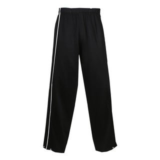 Razor Women's Black/White Polyester Brushed Tricot Long Pants
