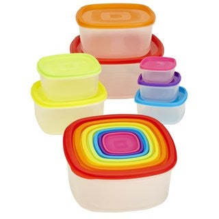 Kitchen Details 14-piece Medium Rainbow Nested Food Storage Set