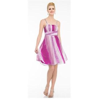 DFI Pink Ombre Spaghetti Strap Dress