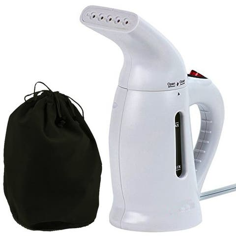 Smartek Smart Care White 800-watt Handheld and Compact Garment Steamer with Heat-Resistant Body and One-touch Operation
