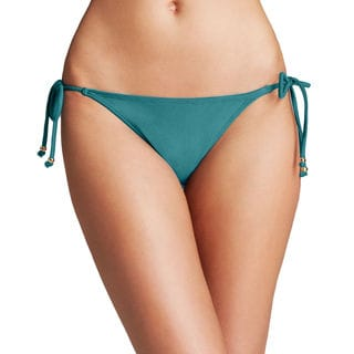PilyQ Tourmaline Teal Teeny Tie Side Bikini Bottom