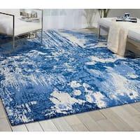 Nourison Twilight Blue/Ivory Area Rug (12' x 15') - 12' x 15'