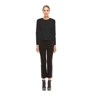 Walter Baker Women's Mack Black Cotton Long-sleeve Top