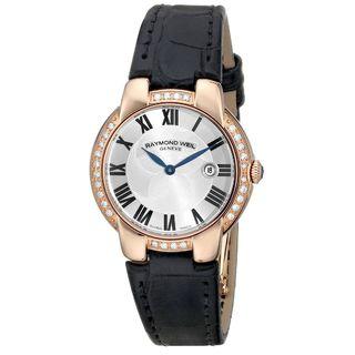 Raymond Weil Women's 5229-PCS-01659 'Jasmine' Black Leather Watch