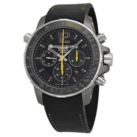 Raymond Weil Men's 7850-TIR-05207 'Nabucco' Chronograph Automatic Black Leather Watch