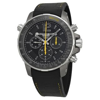 Raymond Weil Men's 7850-TIR-05207 'Nabucco' Chronograph Automatic Black Leather Watch