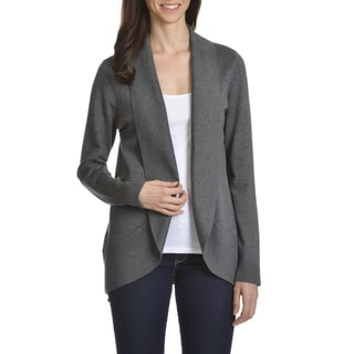 Verve Ami Women's Rayon/Polyester Shawl-collar Open Fly-away Cardigan