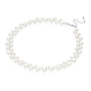 Adorable White Freshwater Pearls Beaded Baby or Child Necklace