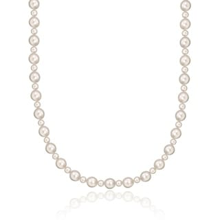 Crystal Dream Elegant Pink Pearls with Sterling Silver Beads Child Girl Necklace