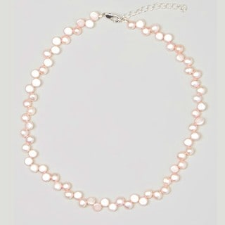 Crystal Dream Luxury Pink Freshwater Pearls Beaded Baby Girl Necklace