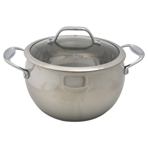 David Burke Gourmet Pro Splendor 4qt Sauce Pot With Lid Stainless Steel