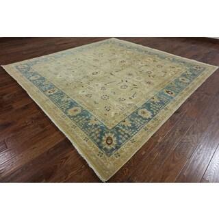 Beige Wool Oriental Peshawar Rug (8'10 x 9'1)
