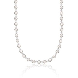 White Pearl and Crystal Child's Necklace