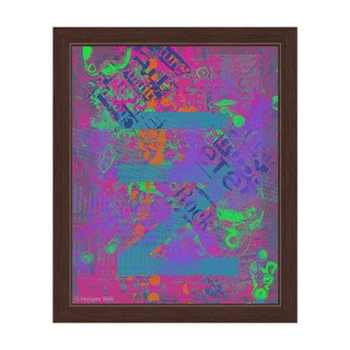Joy of Childhood in Pink and Violet Framed Canvas Wall Art