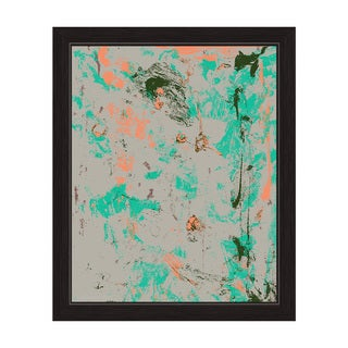 The Reflection in Orange and Teal Framed Canvas Wall Art