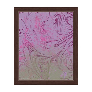 Undefined Ode in Pink and Green Framed Canvas Wall Art