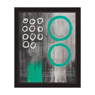 Jump Through Teal Rings Framed Canvas Wall Art