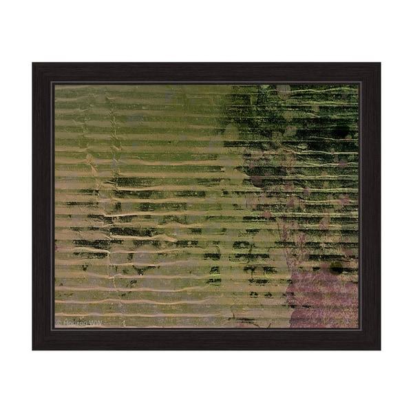 Citrine Scan Lines Framed Canvas Wall Art