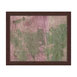 Olive Strokes Framed Canvas Wall Art