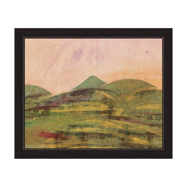 Saffron Expanse Framed Canvas Wall Art