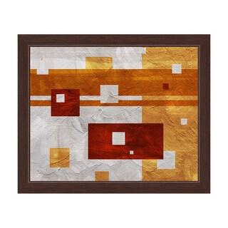 Tangerine Dissonance Framed Canvas Wall Art