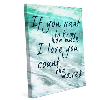 Count the Waves - Seafoam Green Wall Art on Canvas