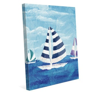 Sailboat Diptych Left Wall Art on Canvas