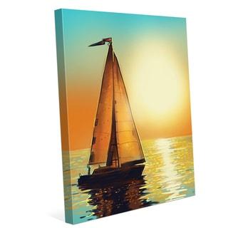 Sun Boat Wall Art on Canvas