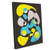 Scatter Brain Yellow And Blue Wall Art on Canvas