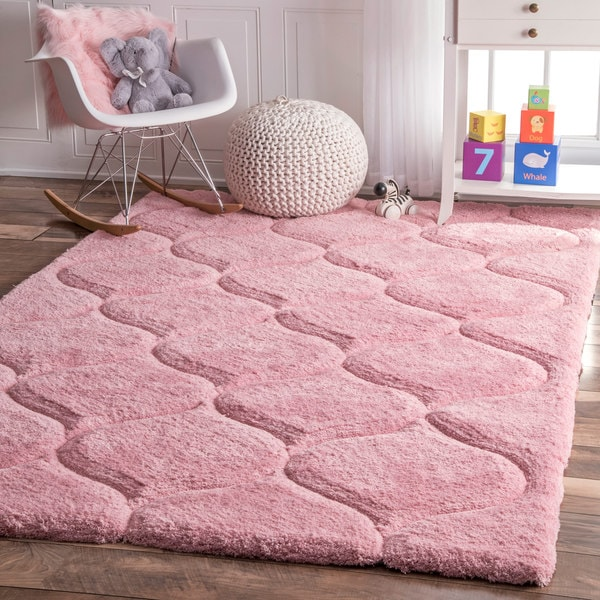Shop Nuloom Handmade Trellis Soft And Plush Solid Pink