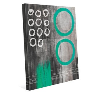Jump Through Teal Rings Wall Art on Canvas