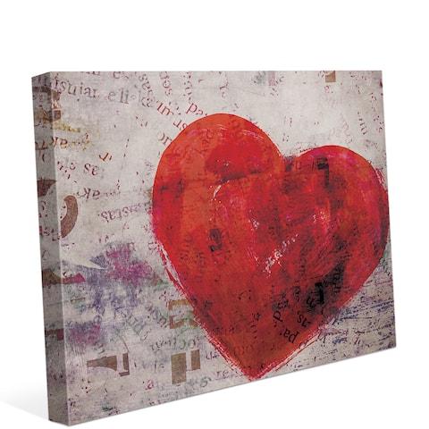 Warm Heart Wall Art on Canvas