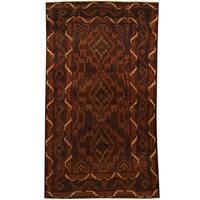 Handmade Herat Oriental Afghan 1960s Semi-antique Tribal Balouchi Wool Rug (Afghanistan) - 3'7 x 6'3