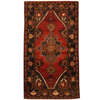 Herat Oriental Afghan Hand-knotted 1960s Semi-antique Tribal Balouchi Wool Rug (3'9 x 6'8) - 3'9 x 6'8