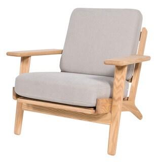 Oak Plank Armchair, Grey