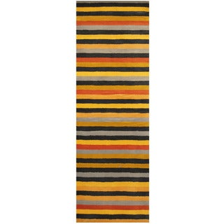 Herat Oriental Indo Hand-tufted Wool Runner (2'6 x 7'6)