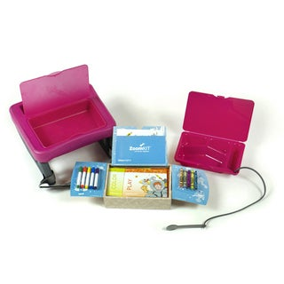 ZoomKIT Travel Table and Activity System Bundle Fuchsia