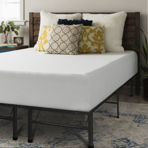 Premium 12 Inch Memory Foam Mattress and Bed Frame Set - Crown Comfort