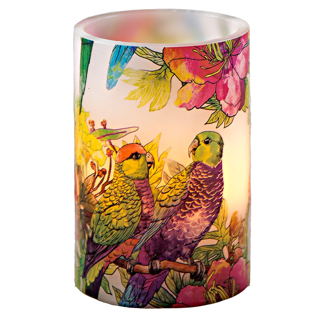 River Of Goods Talking Parrots 6-inch High LED Flameless ...