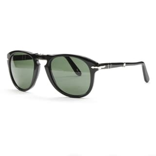 Persol Black/Grey Folding Sunglasses with Crystal Lenses