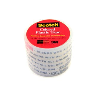 Colored Plastic Tape [Pack of 12]