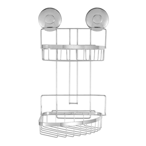Everloc Endure Stainless Steel Suction Cup Corner Shower Baskets