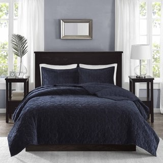 Madison Park Emery Navy Coverlet 3 Piece Set