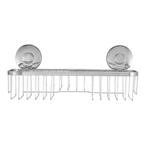 Shop Everloc Endure Stainless Steel Suction Cup Bathroom Shelf   Free  Shipping On Orders Over $45   Overstock   12358327
