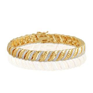 Divina 14k Gold over Brass Diamond Accent Fashion Bracelet (I-J, I2-I3)