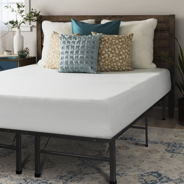 Twin size Memory Foam Mattress 10 inch with Bed Frame Set - Crown Comfort