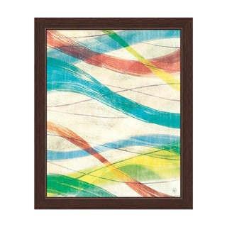 Strands of Paint Framed Canvas Wall Art