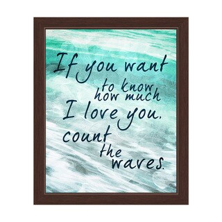 Count the Waves - Seafoam Green Framed Canvas Wall Art